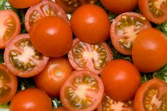 Tomato salad closeup Royalty Free Stock Photography