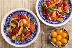Tomato salad. Royalty Free Stock Photos