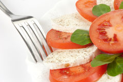 Tomato salad with feta cheese Royalty Free Stock Images