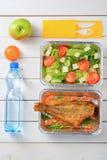 Tomato salad and fish stock photography