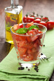 Tomato Salad In A Glass Royalty Free Stock Images