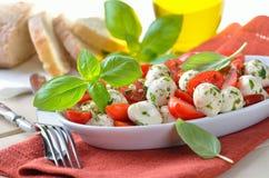 Tomato salad with mozzarella Stock Image