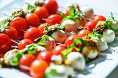 Tomato salad with onion. Royalty Free Stock Images