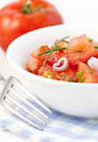 Tomato Salad With Onion Royalty Free Stock Image