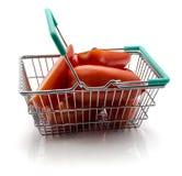 Tomato San Marzano. San Marzano tomatoes in basket  on white background Stock Images