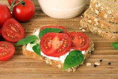 Tomato sandwich Royalty Free Stock Images