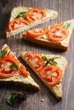 Tomato sandwich Royalty Free Stock Photos
