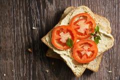 Tomato sandwich Royalty Free Stock Photo
