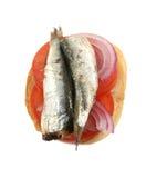Tomato Sardine And Onion Sandwich Stock Photos