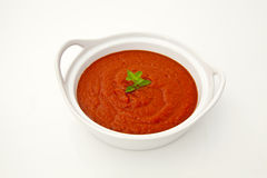 Tomato sauce in a bowl Royalty Free Stock Images