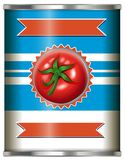 Tomato Sauce in Can on White Background. Illustration vector illustration