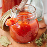 Tomato Sauce, Canned Marinara Preserves Royalty Free Stock Photos