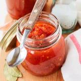 Tomato Sauce, Canned Marinara Preserves Stock Image