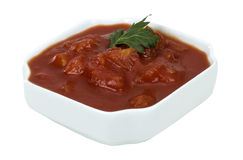 Tomato sauce with chopped tomatoes and parsley Stock Image