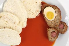 Tomato sauce (czech food) Stock Photos