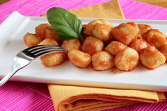 Tomato Sauce Gnocchi Royalty Free Stock Images