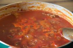 Tomato sauce with goulash #3 Stock Photos