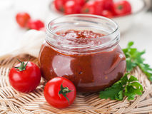 Tomato sauce (jam) Royalty Free Stock Images