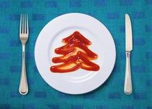 Tomato sauce looks like fir-tree Stock Images