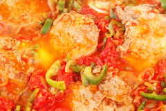 Tomato sauce with pork chop Royalty Free Stock Images