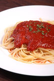 Tomato sauce spaghetti Royalty Free Stock Photography