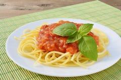 Tomato sauce with spaghetti Royalty Free Stock Photos