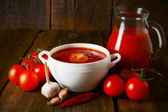 Tomato sauce and spices Royalty Free Stock Images