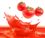 Tomato sauce splash Royalty Free Stock Photos