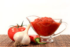 Tomato sauce and vegetables Stock Photo