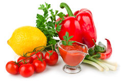 Tomato sauce with vegetables Stock Photo