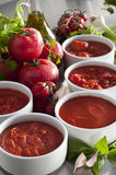 Tomato sauces Royalty Free Stock Images