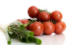 Tomato and Scallions Stock Image