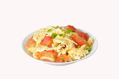 Tomato scrambled eggs Royalty Free Stock Photos