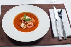 Tomato seafood soup Royalty Free Stock Images
