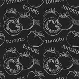Tomato seamless pattern Royalty Free Stock Images