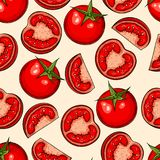 Tomato seamless pattern Stock Photo