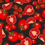 Tomato seamless pattern Stock Photography