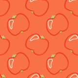 Tomato Seamless Pattern Kid's Style Hand Drawn Stock Image