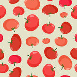 Tomato seamless pattern. Vegetable  background red tomatoe Royalty Free Stock Images