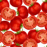 Tomato seamless pattern stock illustration