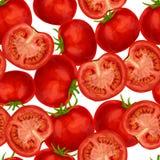 Tomato seamless pattern Stock Photos
