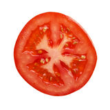 Tomato section photographed directly above Royalty Free Stock Images