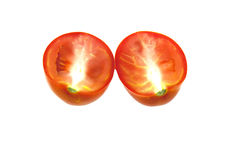 Tomato segments Stock Photos