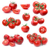 Tomato set isolated on white. Stock Photo