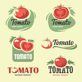 Tomato. Set of tomato labels and symbols in vector Stock Photo