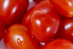 Tomato shape heart background Stock Photo