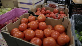 Tomato in the shop stock footage
