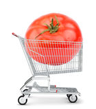Tomato in shopping cart Stock Photography