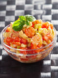 Tomato, shrimps and avocado salad Royalty Free Stock Photo