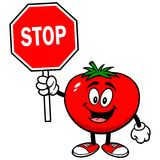 Tomato with Sign Royalty Free Stock Images